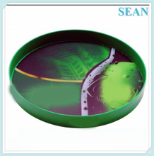 2015 NEW customized plastic round serving tray for bar