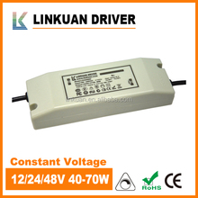 TUV-CE Approved Strip light 40-70W 6000ma 3000ma 1500ma 48V 24V 12v dc input led driver
