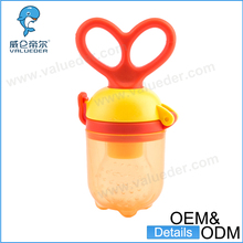 Manufacture unique baby pacifier BPA Free silicone infant baby feeder ring pacifier for fruit fresh food