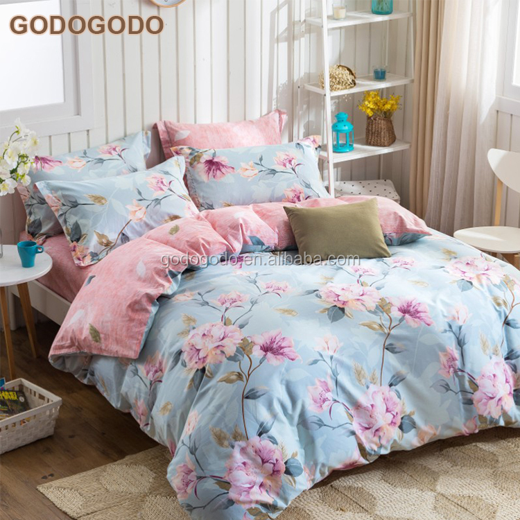Factory Custom Queen Size 8Pcs Multicolored 100% Cotton Home Hotel Bed Sheet Bedding Set