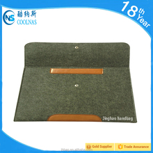 Case for IPAD Sleeve for IPAD Tablet Case Wool Felt Tablet Case Thick Leather Strap for iPad Air 1 2 Christmas Gift