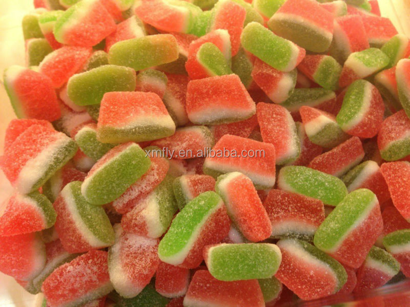 Custom Loose Packed Confectionary Watermelon Soft Jelly Gummy Candy