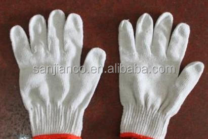 best selling 7gauge 10 gauge cheap white color farming safety work gloves labor protective equipment