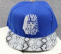6 panel plain good leather custom made men snapback hats wholesale