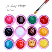 Professional Nail gel paint UV Painting gel with sticky layer for nail art