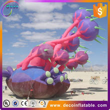 2016 new product ideas advertising giant ground inflatable flower with LED light