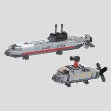 wholesale 222pcs small submarine abs building blocks for children