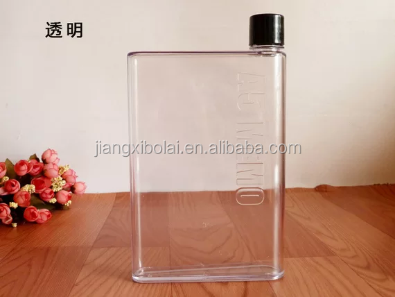 2016 New A5 Memo plastic drinking water bottle for wholesales