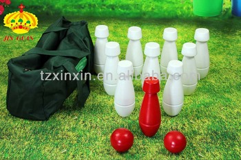 wooden color bowling game set outdoor games 3195