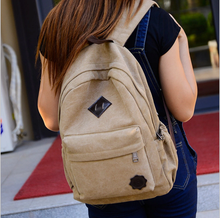 Man Women School Bag Outdoor Traveling Hiking Sports Customized logo printed Cotton canvas backpack