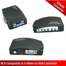 TV DVD AV Composite RCA S-Video To VGA Monitor PC Video Adapter Converter