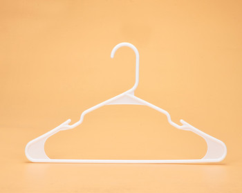 wholesale supermarket white color plastic hanger standard tubular hanger
