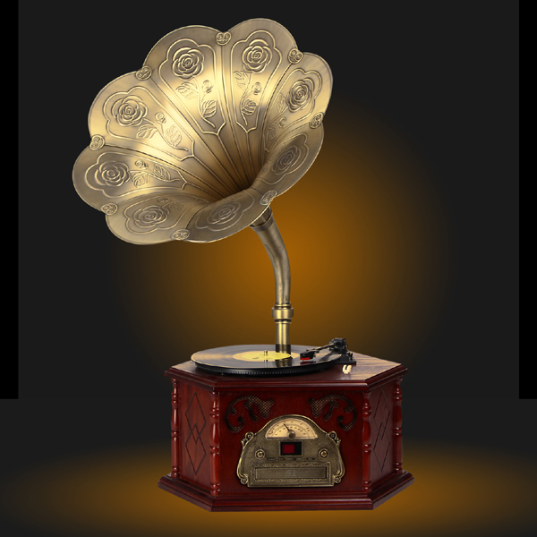 MYS105A European Style antique record players Music box