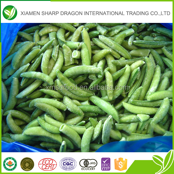 High quality IQF frozen new crop fresh sugar snap pea