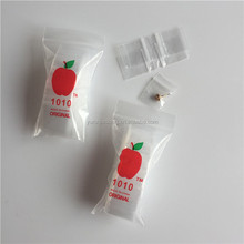 Customized Clear LDPE Apple Mini Plastic Ziplock Bag