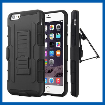 C&T Dual Layer Hybrid Armor Removable Swivel Belt Clip Holster Case for iPhone 6s
