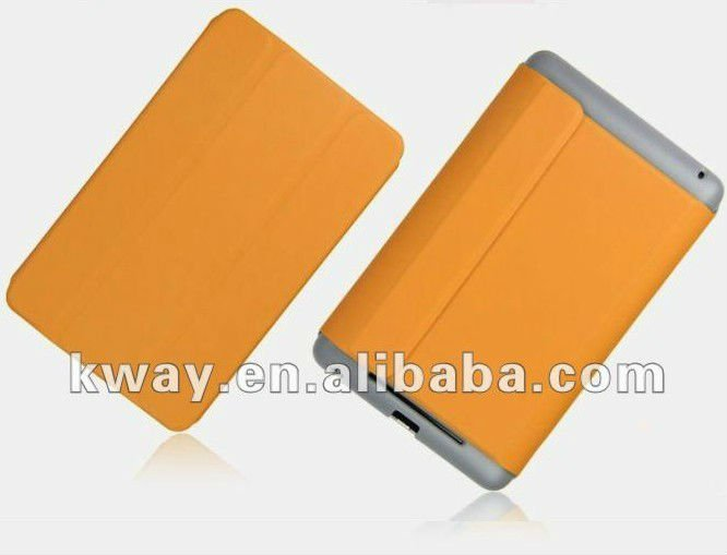 Magnetic Folding Stand leather case Smart Cover case for Google Nexus 7(magnetic sleep sensors) KSH068