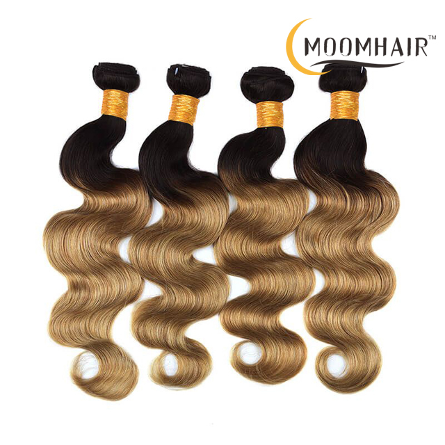 1B-27# BODY Colored Two Tone Ombre Blonde Peruvian Body Wave Hair Weave