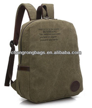 2014 high quality and hot selling canvas and leather hiking backpack china manufacture