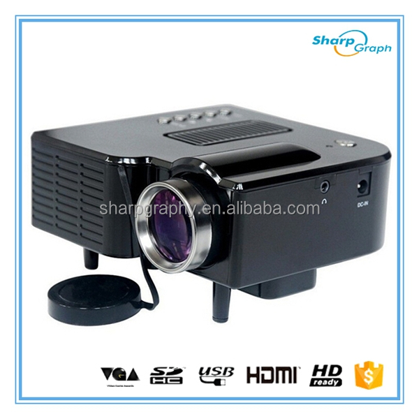 UNIC 150 Lumens Full HD 3D Mini Beamer LED Proyector UC28+
