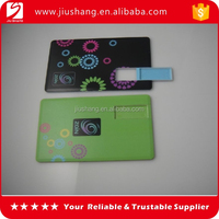 High quality 8GB plastic credit card usb flash with custom logo