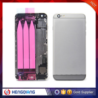 Wholesale Replacement Rear Cover Housing for iPhone 6 plus Back Cover Battery Door Housing with Small parts