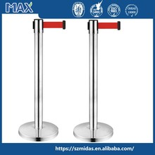 Retractable belt q manager suppliers automatic tensile boom stanchion, que barriers