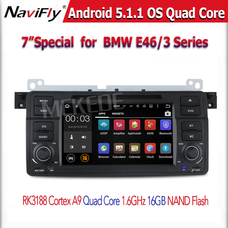 Quad core DIY illumination Color Car TFT-LCD Special DVD Player for BMW E46(1998-2005)BMW M3(1998-2005)