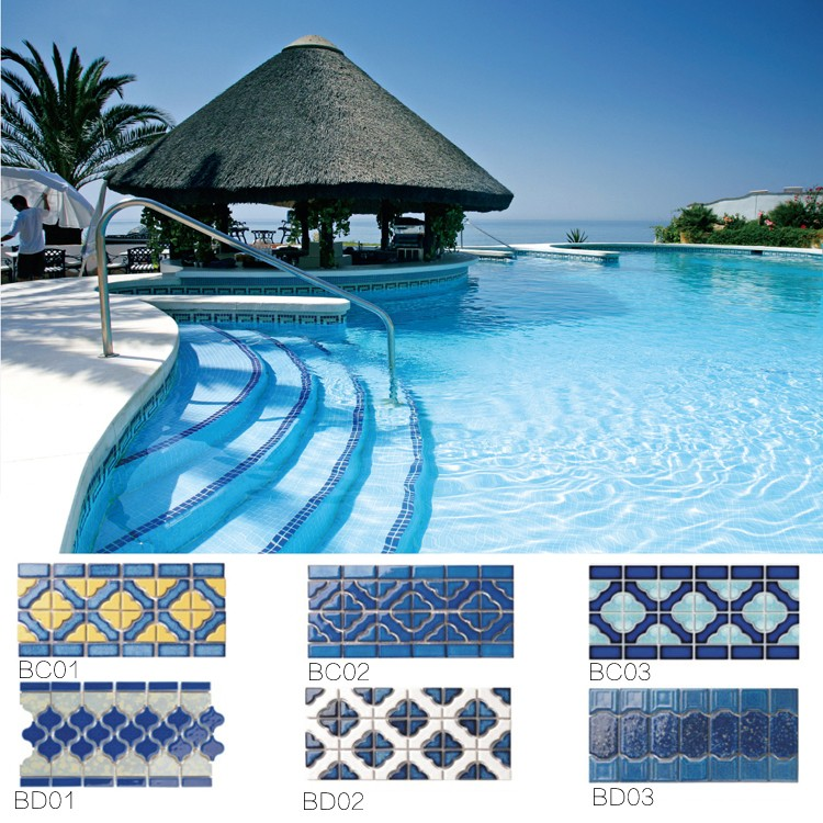 3x3 porcelain swimming pool mosaic tiles buy swimming for Piscina 3x3