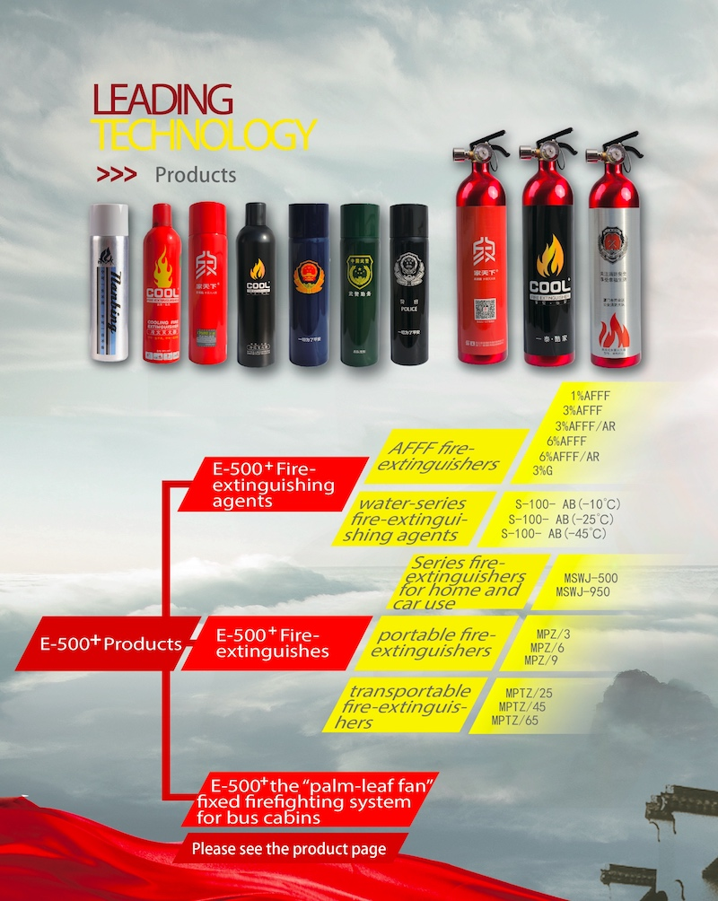 E-500 OEM water based simple fire extinguisher