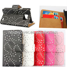 Bling bling case for samsung galaxy s2 leather cover