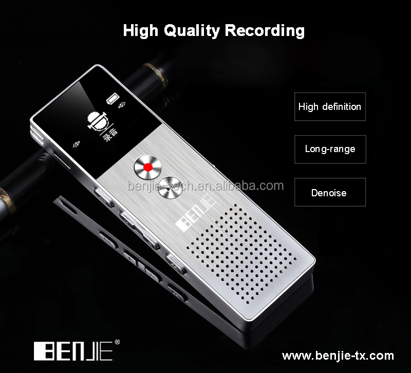 Newest 8GB digital voice recorder Good sound quality voice recorder one key recording function
