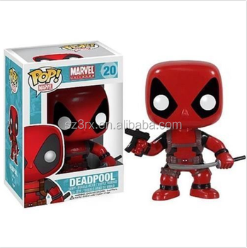pvc funko pop wholesale make custom toys for kids/customized popular superhero red figurine action figures in factory price