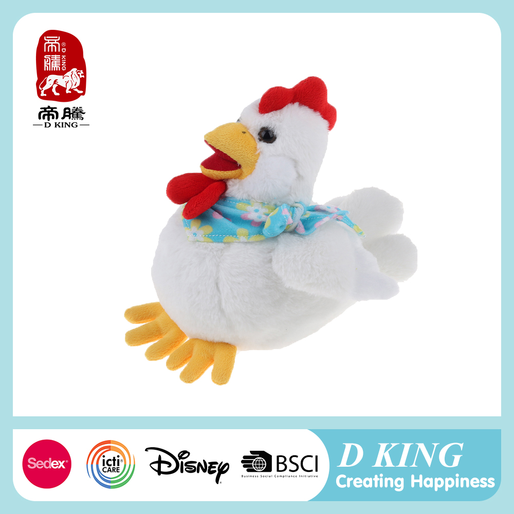 New Year Gift Unstuffed Animal Plush Chicken Toy Candy Bag