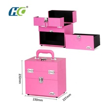 Custom beauty travel makeup bag kits for professionals box cosmetic makeup trolley case