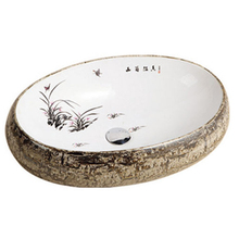 HS-B20 art sink/ newest arrival high quality vessel sink oval/ ceramic colored decorative sink