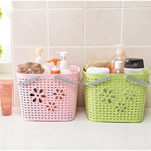 Buy wholesale from China flexible garden plastic basket with handle