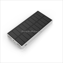 Newest 6000mAh Solar Charger with 2 USB Ports 5V / 2.1A and Flashlight