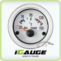 "2"" 52mm boat instrument auto gauge oil temperature gauge"