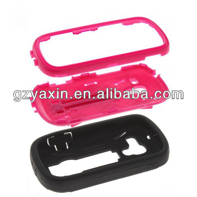 Mobile phone case for samsung galaxy exhibit t599,pc silicone 2in1 case with kickstand for Samsung Galaxy Exhibit 2 T599