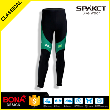 Custom coolmax gel pad cycling pants sublimation feleece men long cycling pants hotsale sportswear
