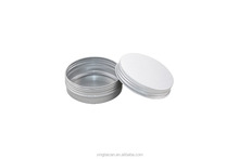 85g Aluminum cosmetic box packaging with screw lid