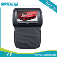 7 inch car headrest DVD player with wireless game and touch screen