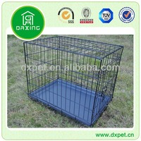 Black Dog Cage with Plastic Tray DXW003