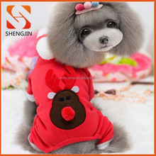 2015 Pet christmas reindeer clothes/apparel/wear/costume for dog fashion clothing for small dogs