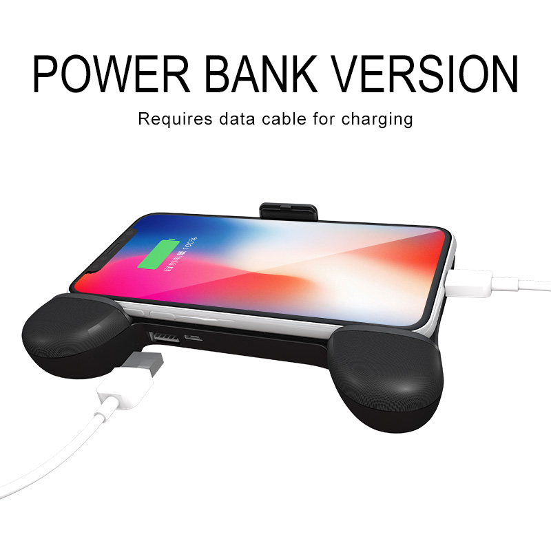 Portable smartphone joystick usb mobile charger cooling fan power bank gamepad