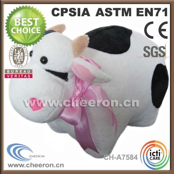 2014 new promotional products novelty cow stuffed animals