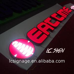 China factory supplied top quality led signs with channel letter halo lit for restaurants