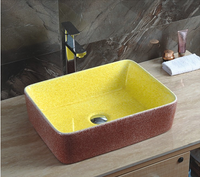 YJ345 Rectangle design luxury bathroom counter top basin