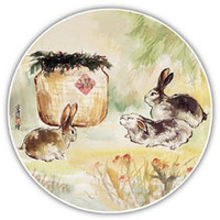 The Rabbit absorbent ceramic coaster